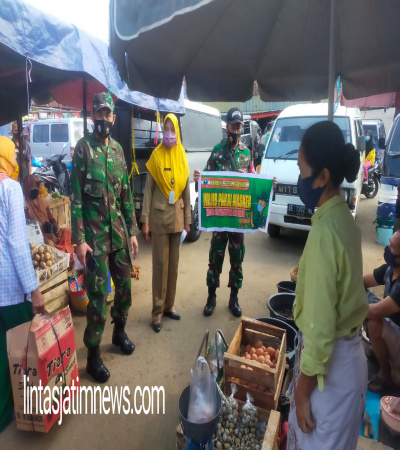 Forkopimcam Slogohimo Keliling Pasar Gelar Patroli Pencegahan Covid 19