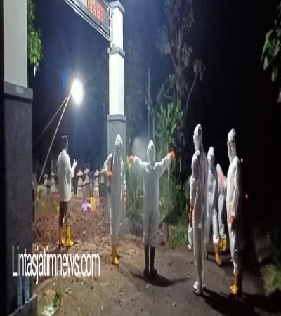 Hindari Hal-Hal Yang Tidak Diinginkan, Koramil 14/Jatisrono Selalu Dampingi Pemakaman Jenazah Covid-19