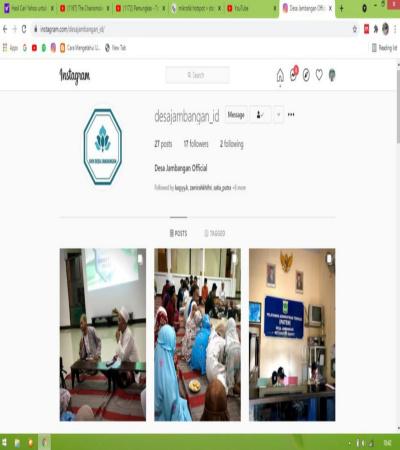 KKN UM 2021 : Pengembangan Media Sosial Desa Jambangan Kec:Dampit Malang
