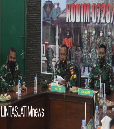 Ini Tujuan Tim Wasrik Itdam IV/Diponegoro Kunjungi Kodim 0728/Wonogiri