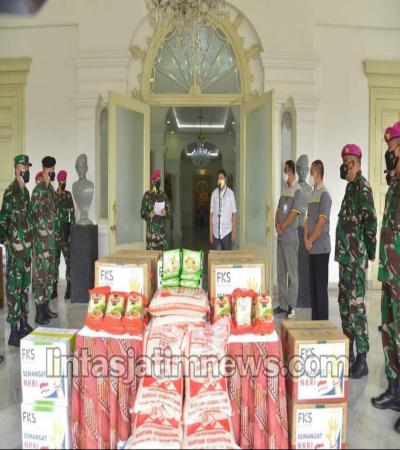 KORPS MARINIR TNI AL : Akan Salurkan Bansos Fks Foundation kepada Nakes